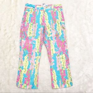 Lilly Pulitzer Size 6 Dragonfly & Floral Crop Pant
